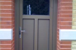 Aluclad arched Entrance door