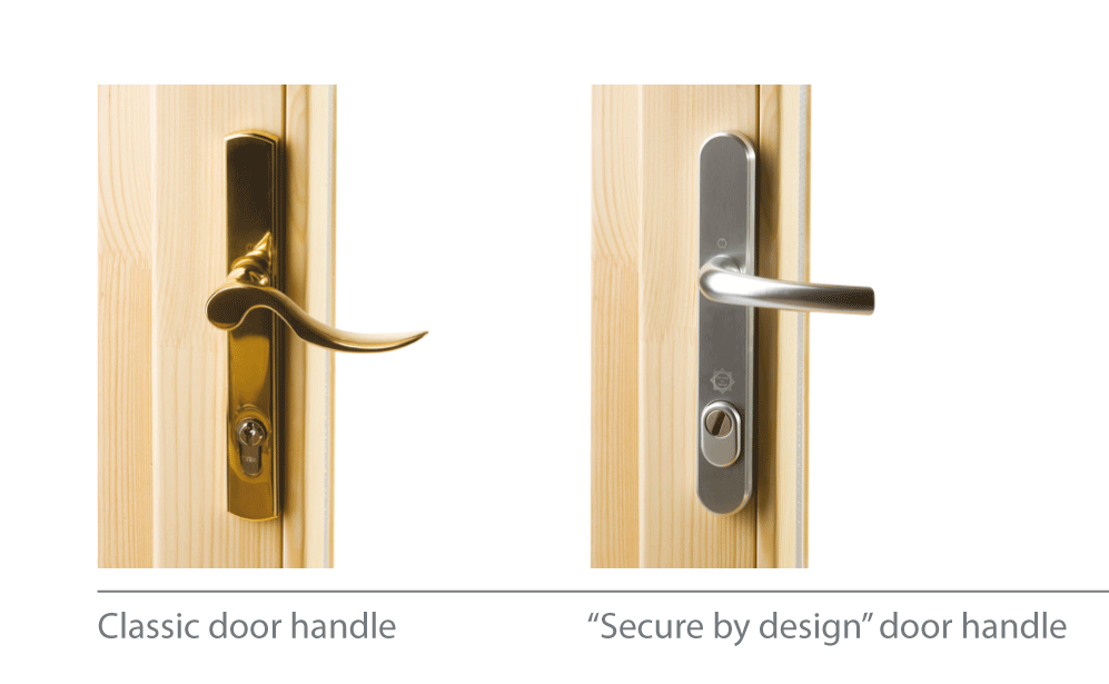 Classic and modern design door handles