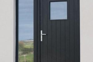 Euro78 Flush wood Entrance door RAL9005