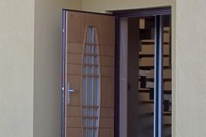 Flush timber entrance doors