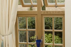 Oak casement windows