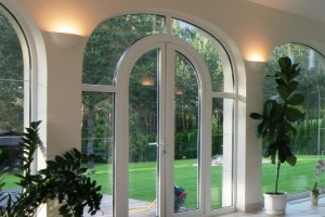 PVC arched French Doors