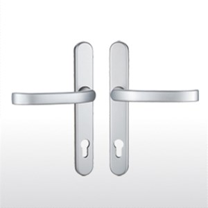 Satin chrome handles