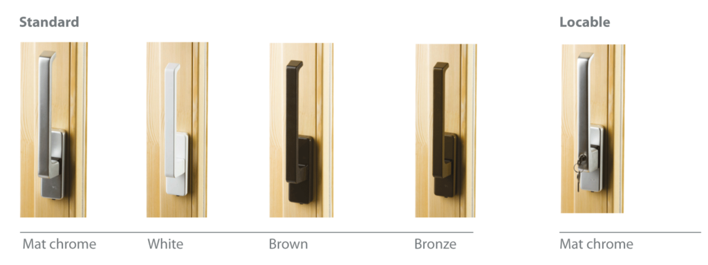 Tilt and slide terrace door handles