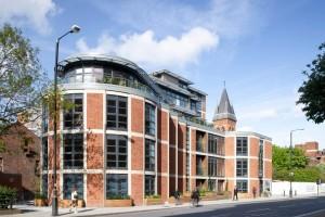 Tilt & turn timber windows, Brabazon House, London