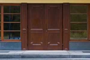 Timber Entrance doors with design elements