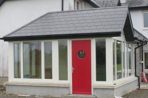Timber entrance doors RAL1013 Co. Waterford Ireland