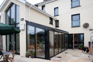 Aluclad timber windows and curtain wall