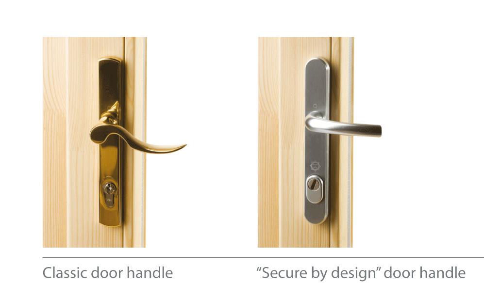Classic and modern design door handles
