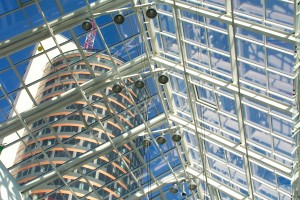 Europa shopping centre, glass-aluminium roof