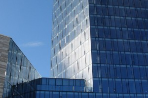 Hofdatorg, Reikjavik, Iceland; aluminium windows and curtain wall Reynaers CW86