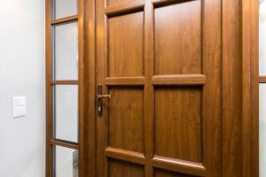 PVC Entrance doors with wood imitation laminate