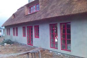 PVC windows red