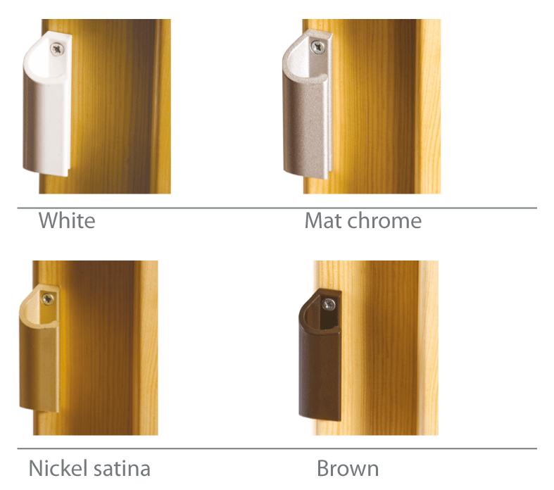 Pull handles for terrace doors