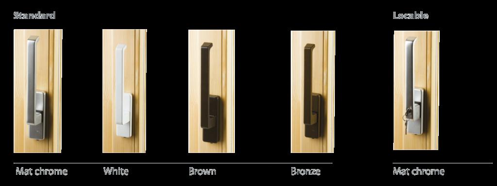 Tilt and slide terrace door handles
