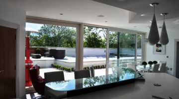 Timber aluclad lift&slide doors