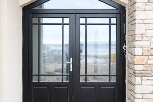Timber entrance door with triangular top lite, Dungarvan Ireland