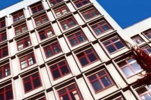 Vilnius University hospital, PVC windows